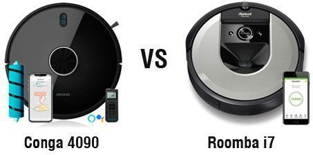 Robot Conga 4090 vs Roomba i7