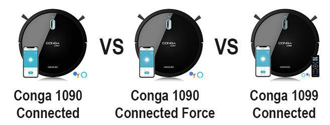 Comparativa Conga 1090 Connectec VS Force VS 1099