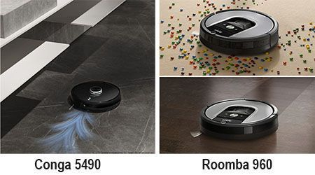 Conga 5490 vs Roomba 960 - diferencias